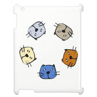 5匹の猫 iPadケース