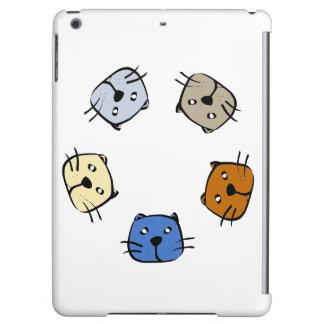 5匹の猫 iPad AIRケース