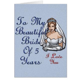 5年の美しい花嫁 カード