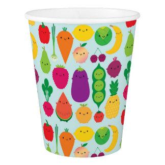 5日のフルーツ及び野菜 紙コップ