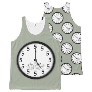 5時の時計 オールオーバープリントタンクトップ