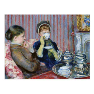 5時の茶メリーCassattファインアート ポストカード