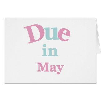 5月に当然のピンク グリーティングカード