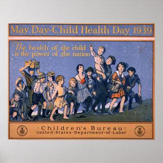 5月の日子供の健康日1939年 ポスター