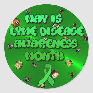 5月はライム病の認識度月のステッカーです ラウンドシール