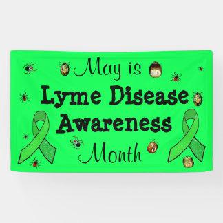 5月はライム病の認識度月の旗です 横断幕