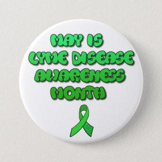 5月はライム病の認識度月ボタンです 缶バッジ