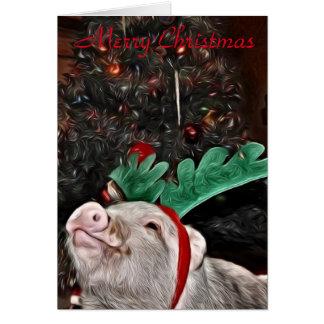 5月クリスマス、ブタの挨拶状の精神 カード