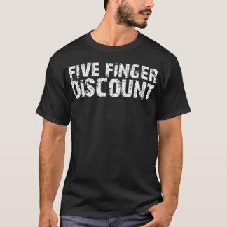 5本の指の割引(2) Tシャツ