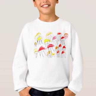 5歳の女の子によって描かれるカラフルなくらげ スウェットシャツ