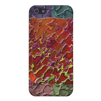 5色の長方形の抽象的な部分 iPhone 5 CASE