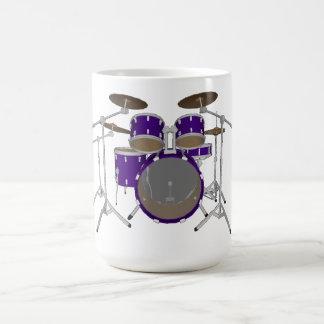 5部分のドラムキット: バイオレット: コーヒー・マグ: 置かれるドラム コーヒーマグカップ