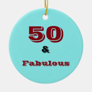 50およびすばらしいお祝いのオーナメント セラミックオーナメント