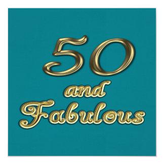 50およびすばらしいパーティの招待状 13.3 スクエアインビテーションカード