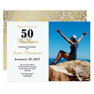 50およびすばらしい第50誕生日の招待状 カード