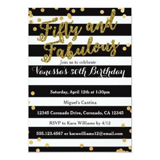 50およびすばらしい第50誕生日の招待 カード