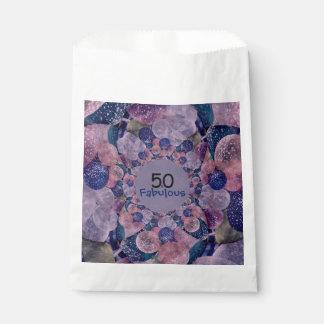 50およびすばらしい紫色は誕生日を風船のようにふくらませます フェイバーバッグ