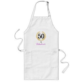 50およびすばらしい誕生会のエプロン ロングエプロン
