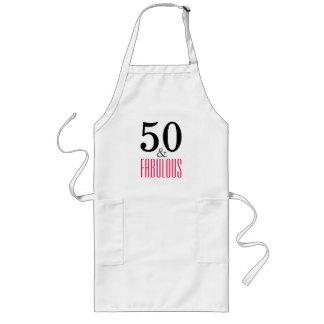 50およびすばらしい誕生日長く白いAprin ロングエプロン