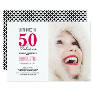 50およびすばらしい|の第50誕生日のパーティの招待状 カード
