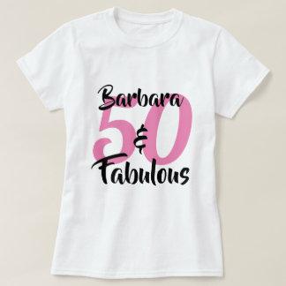 50およびすばらしく名前入りな誕生会 Tシャツ