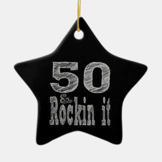 50およびRockinそれ第50誕生日 セラミックオーナメント