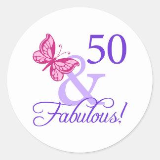 50そしてすばらしい誕生日 ラウンドシール