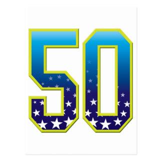 50の年齢の星 ポストカード
