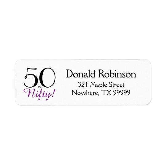 50は粋です! 第50誕生日の差出人住所ラベル ラベル