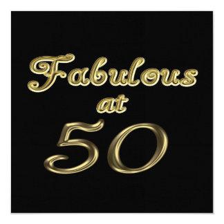 50パーティの招待状ですばらしい 13.3 スクエアインビテーションカード