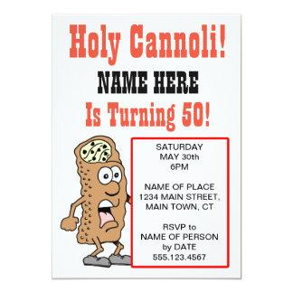 50パーティの招待状を回す神聖なCannoli 12.7 X 17.8 インビテーションカード
