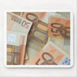 50ユーロのお金の芸術 マウスパッド