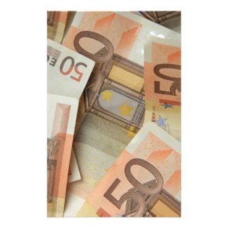 50ユーロのお金の芸術 便箋