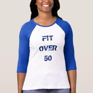 50上の適合3/4の長さの袖のワイシャツのティー Tシャツ