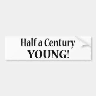50半分世紀の若者 バンパーステッカー