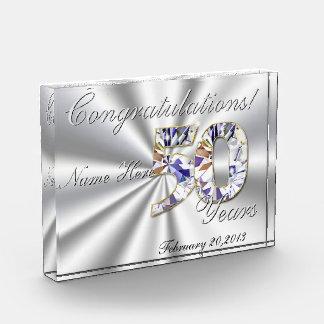 50年のお祝い 表彰盾