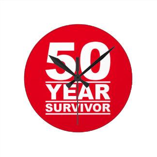 50年の生存者 ラウンド壁時計