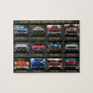 50年代からのクラシックなアメリカの自動車 ジグソーパズル
