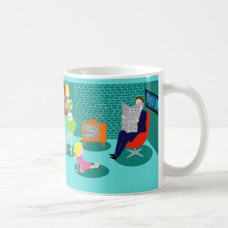 50年代のクラシックなテレビのコーヒー・マグ コーヒーマグカップ