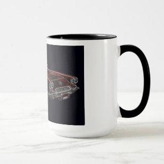50年代のシボレー・コルベットのコンバーチブル マグカップ
