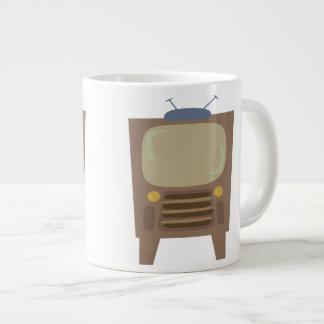50年代のスタイルのヴィンテージTV ジャンボコーヒーマグカップ