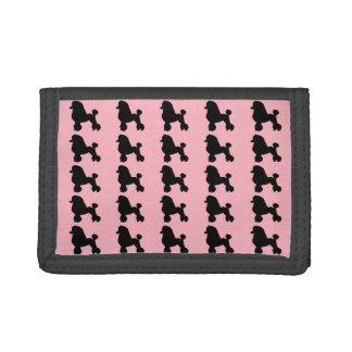 50年代のピンクのプードルのスカートのナイロン財布 ナイロン三つ折りウォレット