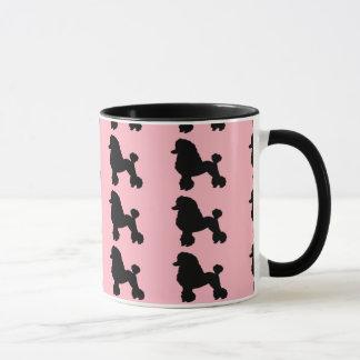 50年代のピンクのプードルのスカートの刺激を受けたなコーヒー・マグ マグカップ