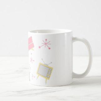 50年代のピンクの居間セット コーヒーマグカップ