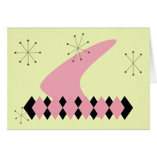 50年代のレトロの挨拶状 カード