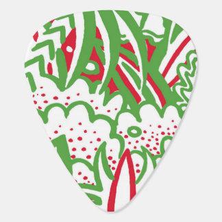 50年代のレトロ芸術-クリスマス色 ギターピック