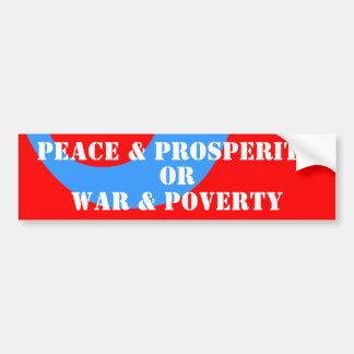 50年代の平和及び繁栄及びモダンの戦争及び窮乏 バンパーステッカー