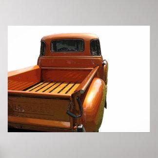 50年代のChevyの小型トラック ポスター