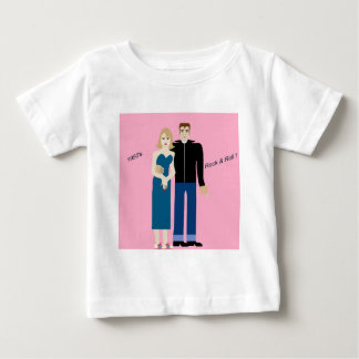 50年代石及びロールカップル ベビーTシャツ