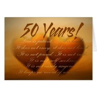 50年記念日のハートカード カード